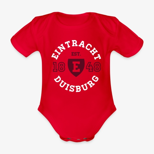 College Circle Baby Body - RED - Baby Bio-Kurzarm-Body