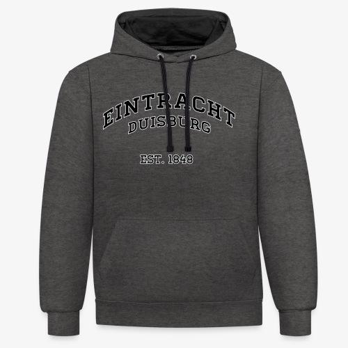 College PREMIUM Hoodie Flockdruck - GREY - Kontrast-Hoodie