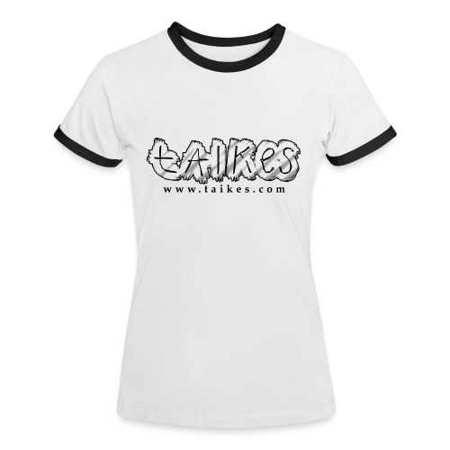 Shaded logo, ladies contrast shirt - Women's Ringer T-Shirt