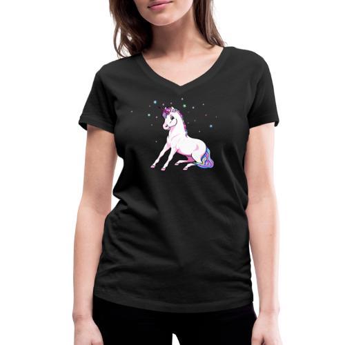 Einhorn - Shirt V - Frauen Bio-T-Shirt mit V-Ausschnitt von Stanley & Stella