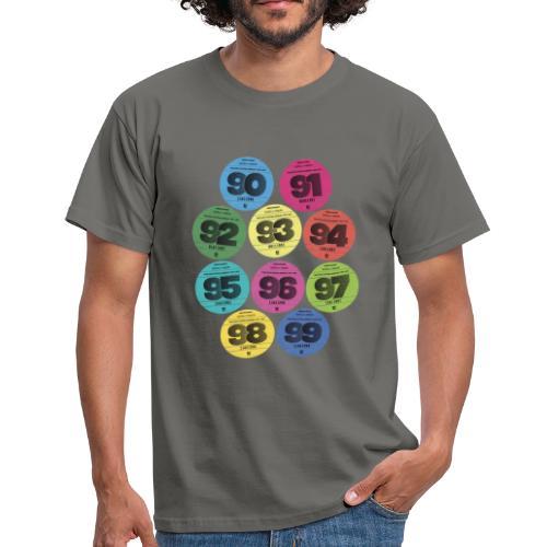 Vignettes automobiles années 90 - T-shirt Homme