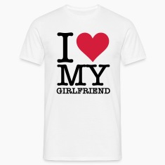 Valkoinen I Love My Girlfriend (2c, NEU) T-paidat