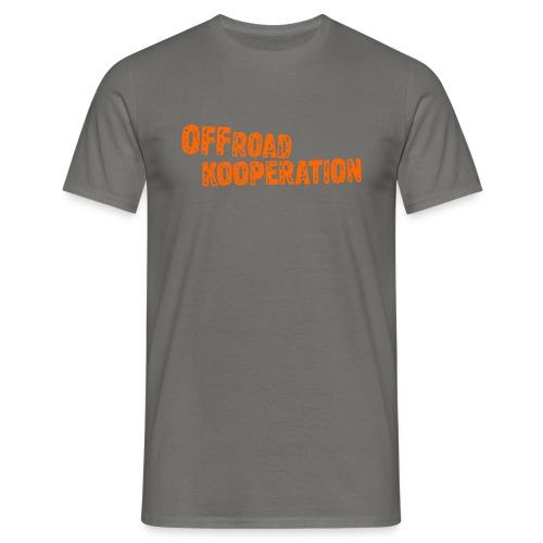 grey/orange - Männer T-Shirt