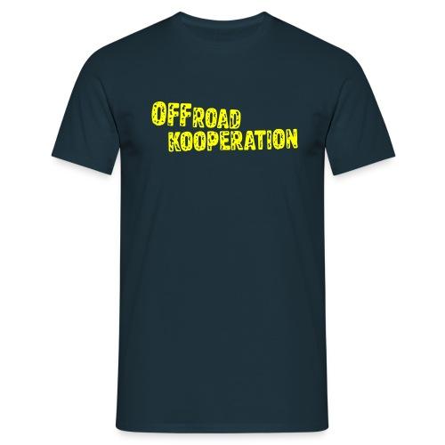 navy/yellow - Männer T-Shirt