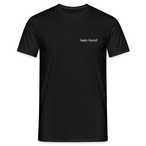 Hello World! T-Shirt - T-shirt herr