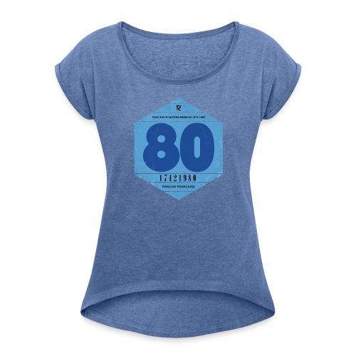 Vignette automobile 1980 femme - T-shirt à manches retroussées Femme