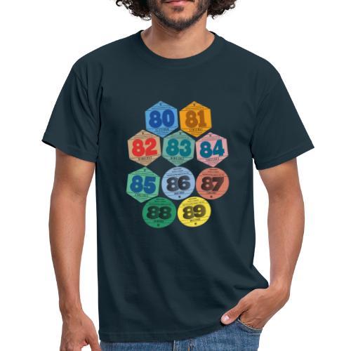 Vignettes automobiles années 80 - T-shirt Homme