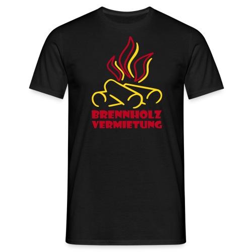 Brennholz Shirt Schwarz 185 - Männer T-Shirt