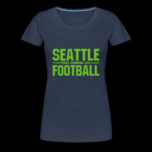 Seattle Football - Damen Shirt - Frauen Premium T-Shirt