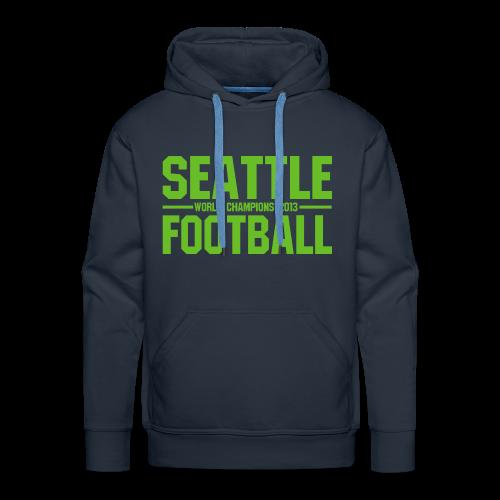Seattle Football - Herren Hoodie - Männer Premium Hoodie