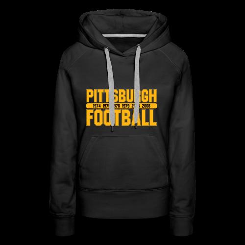 Pittsburgh Football - Damen Hoodie - Frauen Premium Hoodie