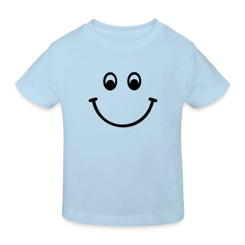 Light Blue Smile - Kids' Organic T-Shirt