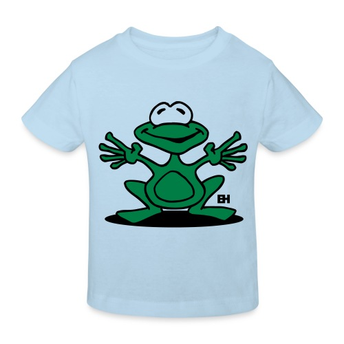 Light Blue Frog - Kids' Organic T-Shirt