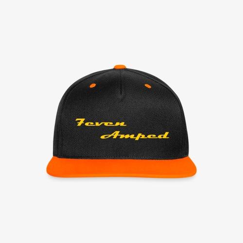 7A Base Cap 2-farbig orange - Kontrast Snapback Cap