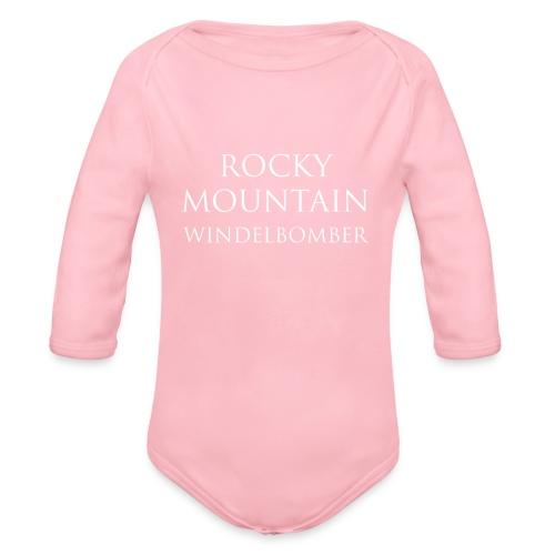 Rocky Mountain Langarm Baby Body - Motiv Windelbomber - Baby Bio-Langarm-Body