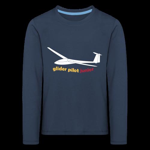 glider pilot junior - Kinder Premium Langarmshirt