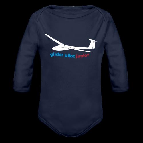glider pilot junior - Baby Bio-Langarm-Body