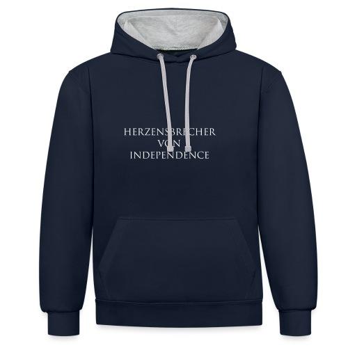 Independence Premium Kapuzenpullover für den Mann - Motiv Herzensbrecher - Kontrast-Hoodie