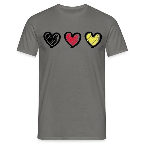 3faches Herz - Männer T-Shirt