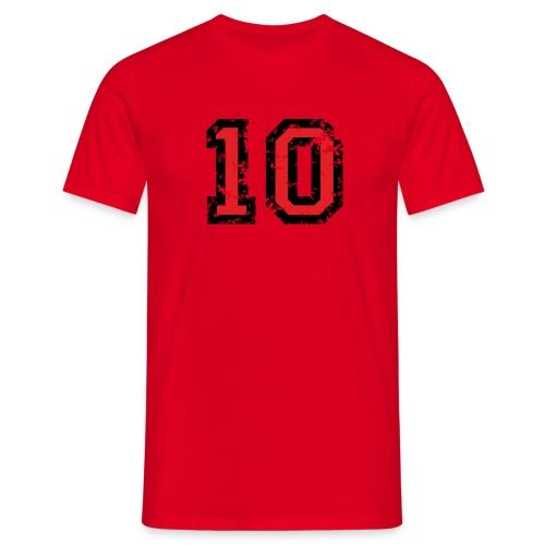 Nummer 10 - Männer T-Shirt