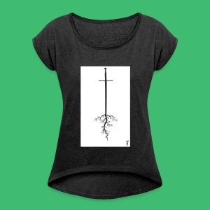 Roots - Frauen T-Shirt mit gerollten Ärmeln