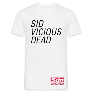 Sid Vicious Dead - Men's T-Shirt