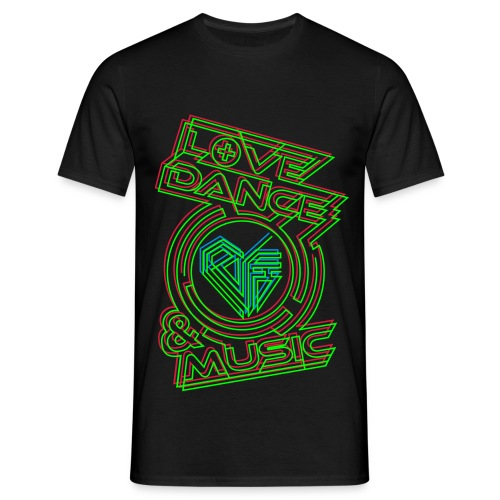 Love. Dance. Music._Green/Red_Man - Männer T-Shirt
