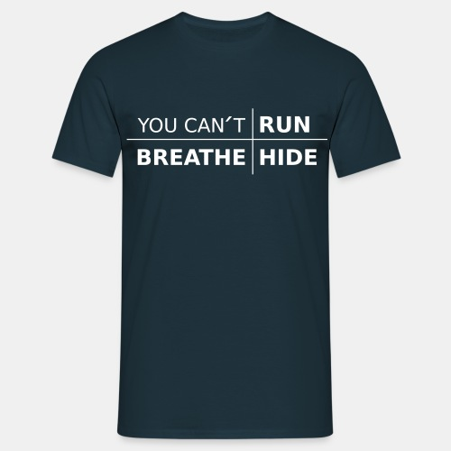 Herr T-Shirt i bomull - You Can't med färgval - T-shirt herr