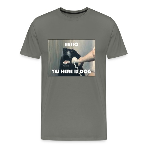 yes here is dog - Männer Premium T-Shirt