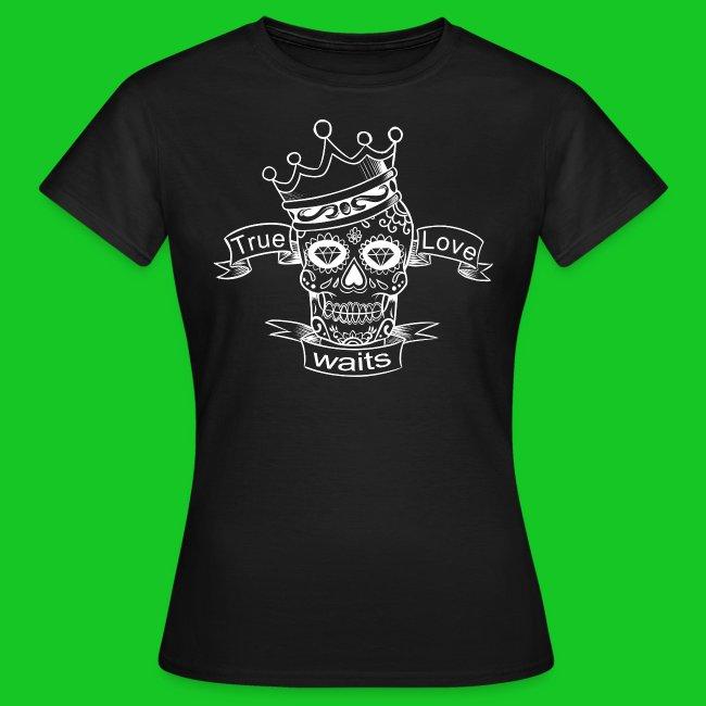 Schedel met kroon dames t-shirt