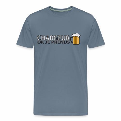 Homme Premium Chargeur Bière - T-shirt Premium Homme