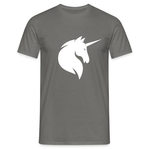 Graues Einhorn - Männer - Männer T-Shirt