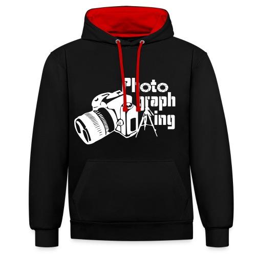 Photographing - Sudadera con capucha en contraste