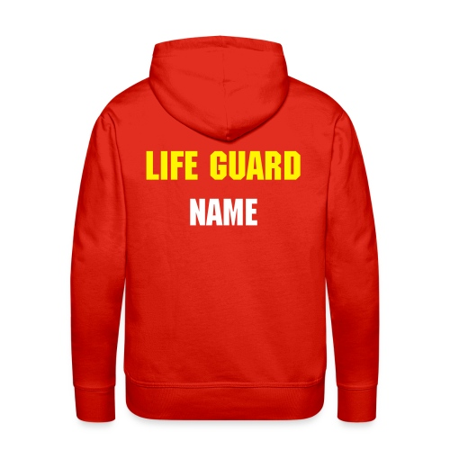 Personalised Life Guard hooded sweatshirt. - Men's Premium Hoodie
