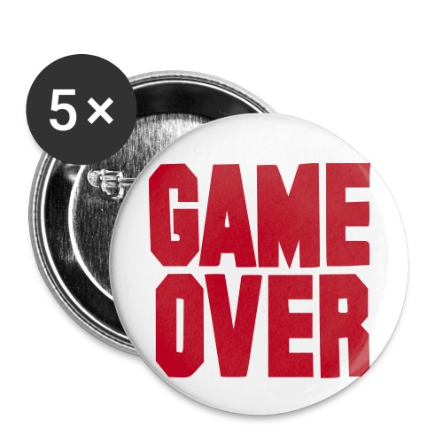 Game over - Set of 5 badges. - Buttons small 25 mm