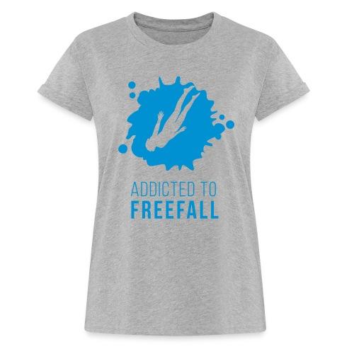 Freediver im Freefall / Freien Fall  - Frauen Oversize T-Shirt