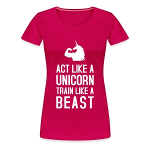 Train like a Beast: Frauen Premium T-Shirt - Frauen Premium T-Shirt