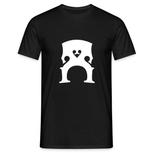 T-Shirt mit Kontrabass-Steg (s/w) - Männer T-Shirt
