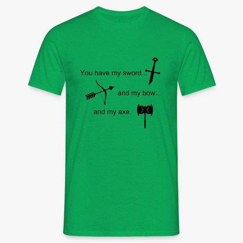 Fellowship of the Ring vow - Men's T-Shirt