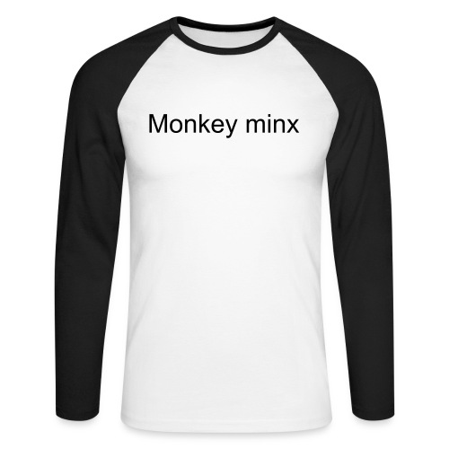 Monkey minx 2-sided CREW shirt - Men's Long Sleeve Baseball T-Shirt