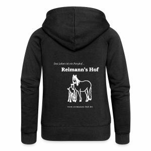 Damen Kapuzenjacke 'Stute mit Fohlen' - Frauen Premium Kapuzenjacke