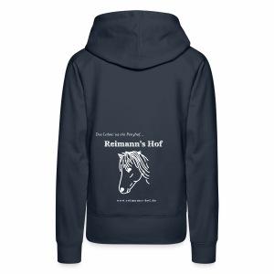 Damen Kapuzenpulli Reimann's Hof -Ponykopf- - Frauen Premium Hoodie
