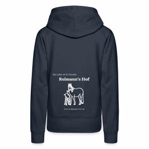 Damen Kapuzenpulli Reimann's Hof -Stute mit Fohlen-  - Frauen Premium Hoodie