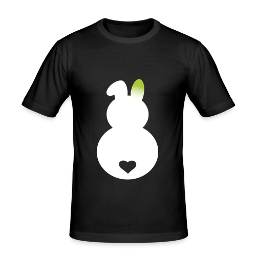 Slim Fit T-Shirt Grünohrbunny - Männer Slim Fit T-Shirt