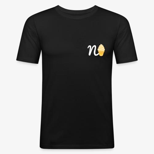 n-ice black rechts - Männer Slim Fit T-Shirt