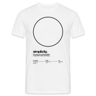 T-Shirts ~ Men's T-Shirt ~ circle, simplicity (Helvetica)