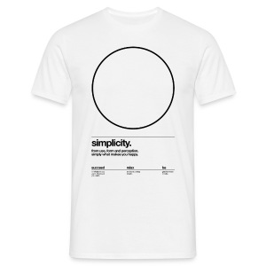 circle, simplicity (Helvetica) - Men's T-Shirt