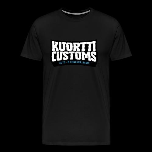 KC premium t-paita (samettinen painatus) - Miesten premium t-paita