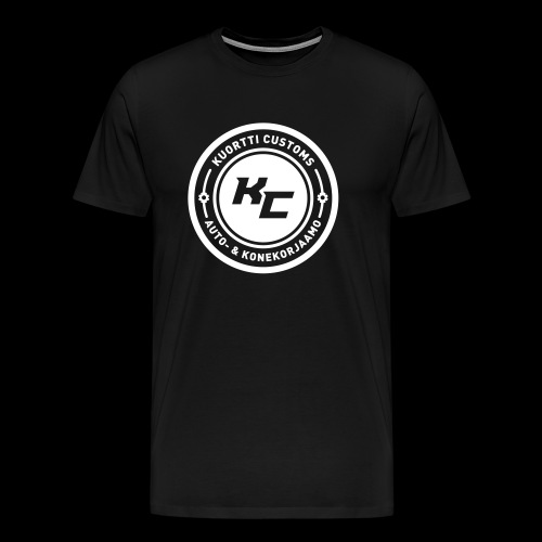 KC t-paita tunnuksella (samettinen painatus) - Miesten premium t-paita