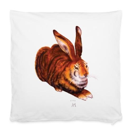 Kissen mit Tigerhase - Kissenbezug 40 x 40 cm